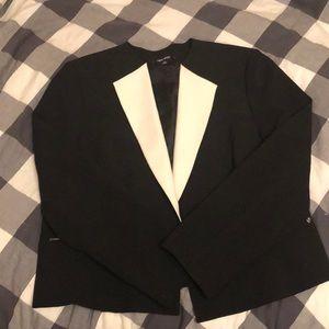 Nine West Contrast Blazer with Zipper Accents